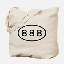 888 Oval Tote Bag