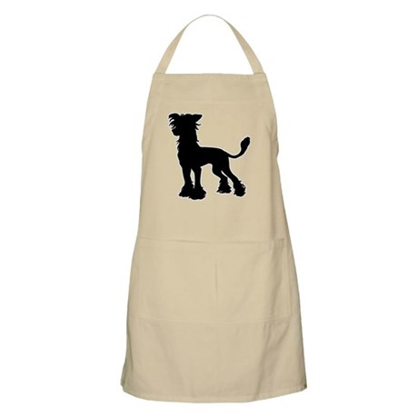 Chinese Crested Silhouette BBQ Apron