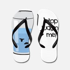 Cute Glass half full Flip Flops