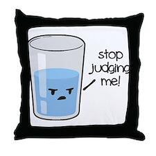 Cute Glass half full Throw Pillow