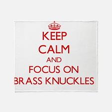 Unique Brass knuckles Throw Blanket