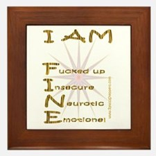 I am fine Framed Tile