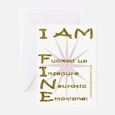 I am fine Greeting Cards (Pk of 10)