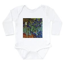 VAN GOGH IRISES Long Sleeve Infant Bodysuit