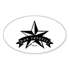Dos Catorce Star Oval Decal