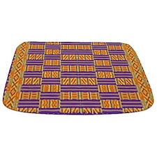 Colorful Kente Pattern Bathmat