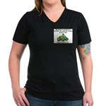 Irish Powered Women's V-Neck Dark T-Shirt
