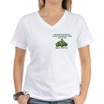 Irish Powered Women's V-Neck T-Shirt