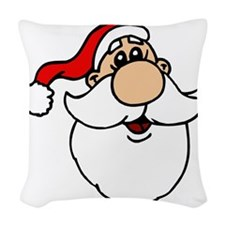 Goofy Santa Head.png Woven Throw Pillow