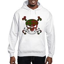 Stewart Tartan Skull Hoodie