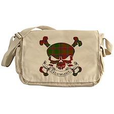 Stewart Tartan Skull Messenger Bag