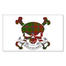 Stewart Tartan Skull Decal
