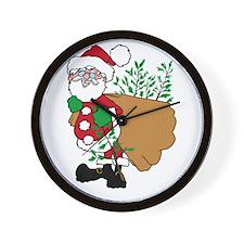 Santa Claus planting trees.png Wall Clock