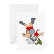 Santa scuba diving.png Greeting Cards