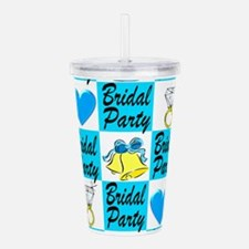 BRIDAL PARTY LOVE Acrylic Double-wall Tumbler