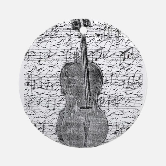 """Sheet Music"" Ornament (Round)"
