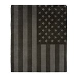American Flag Midnight Throw Blanket