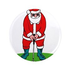 "Santa plys golf.png 3.5"" Button"