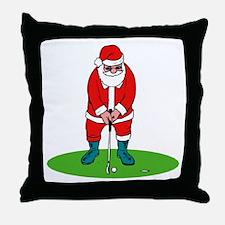 Santa plys golf.png Throw Pillow
