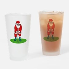 Santa plys golf.png Drinking Glass