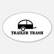 Trailer Trash Oval Decal