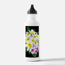 Plumeria Flowers Bouquet Water Bottle