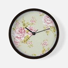 elegant colorful roses vintage floral Wall Clock