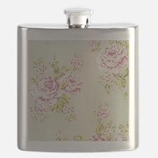 elegant colorful roses vintage floral Flask