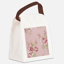 elegant colorful roses vintage fl Canvas Lunch Bag