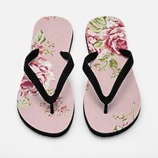 elegant colorful roses vintage floral Flip Flops