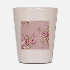 elegant colorful roses vintage floral Shot Glass