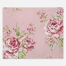elegant colorful roses vintage floral King Duvet
