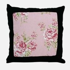 elegant colorful roses vintage floral Throw Pillow