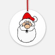 Cute santa head.png Ornament (Round)