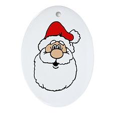 Cute santa head.png Ornament (Oval)
