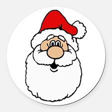 Cute santa head.png Round Car Magnet
