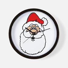 Cute santa head.png Wall Clock