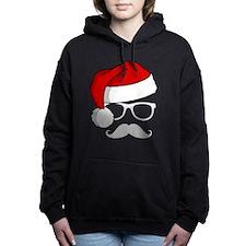 Christmas Mustache Nerd Women's Hooded Sweatshirt