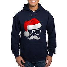 Christmas Mustache Nerd Hoodie