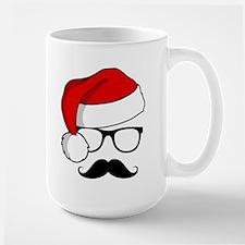 Christmas Mustache Nerd Mug