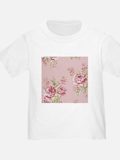 elegant pink roses vintage floral country T-Shirt