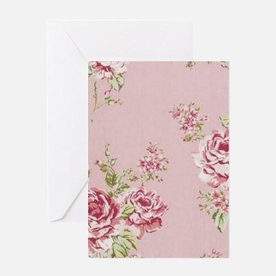 elegant pink roses vintage floral country Greeting