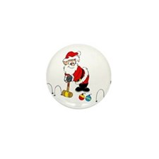 santa croquet with ornaments Mini Button (100 pack