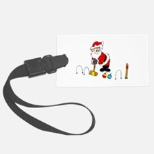 santa croquet with ornaments Luggage Tag