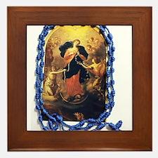 Mary Undoer of Knots Framed Tile