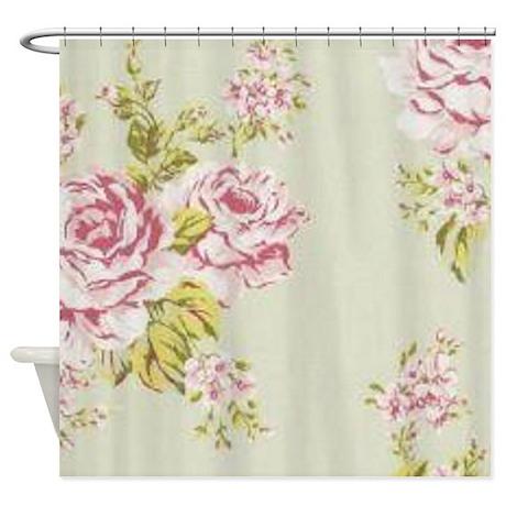 Elegant Vintage Rose Shower Curtain