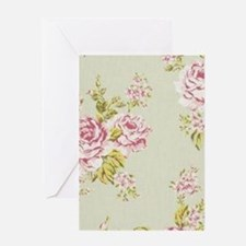 shabby chic country pink roses vintage floral Gree