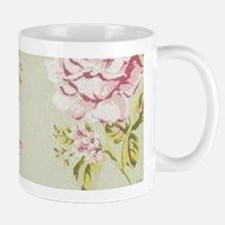 shabby chic country pink roses vintage floral Mugs
