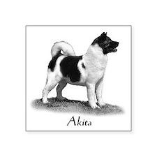 """Akita Square Sticker 3"""" x 3"""""""