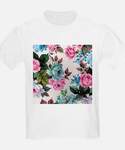 shabby chic country roses vintage floral T-Shirt